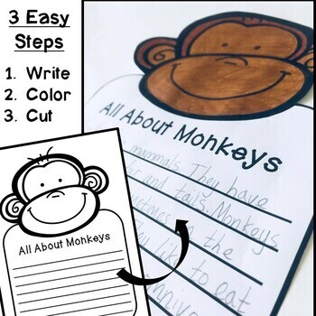 Zoo Animal Craftivities (Informational Writing Prompts & Crafts)