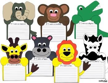 Zoo Craft Bundle {Zoo Animal Writing Prompts}
