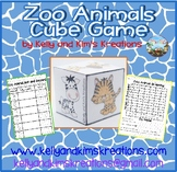 Zoo Animal Cube Game