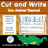 CVC words Differentiated Writing Sentence Practice for Aut