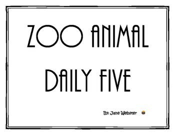 Zoo Animal Daily Five (5)
