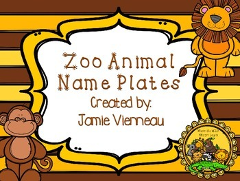 Zoo Animal Desk/Name Plates