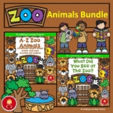 Zoo Animal Emergent Reader, Writing, and Memory Match Game Bundle