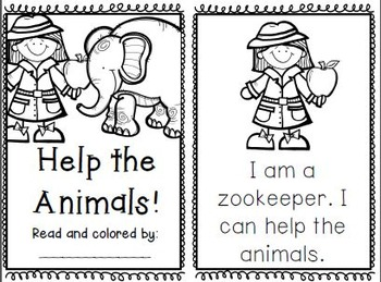 Zoo Animal Emergent Readers