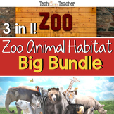 Zoo Animal Habitat Bundle: PBL, STEM, Writing, Literacy