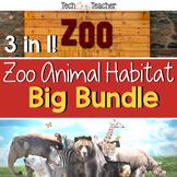 Zoo Animal Habitat Bundle: PBL, STEM, Writing, Literacy