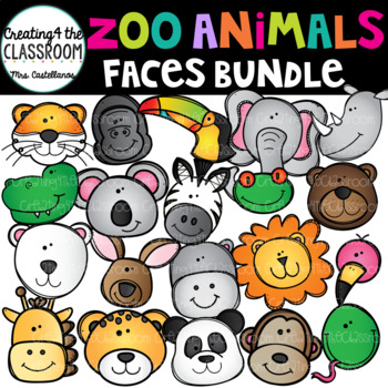 Zoo Animal Faces Bundle {Animal Faces}