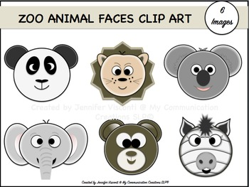 Zoo Animal Faces {Clip Art Set}