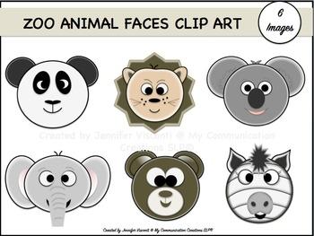 Zoo Animal Faces {Clip Art Set}