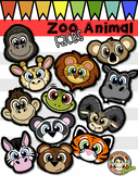 Zoo Animal Faces (Squishies Clip Art) Sketchy version