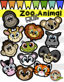 Zoo Animal Faces (Squishies Clip Art)