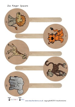 Zoo Animal Finger Space Prompts