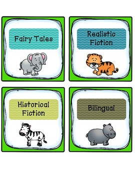 Zoo Animal Genre Labels