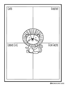 Zoo Animal Graphic Organizers