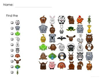 Animal Game: Find It adapted with 3 levels