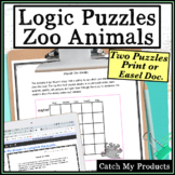 Logic Puzzle : Zoo Animal logic for Gifted and Talented or Bright Students