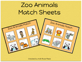 Zoo Animal Match Sheets