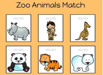 Zoo Animal Match Sheets