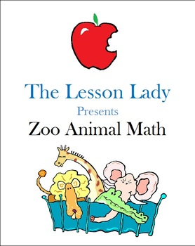 Zoo Animal Math Center Worksheets & Activities