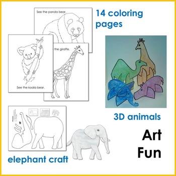 Zoo Animal Math and Literacy Fun