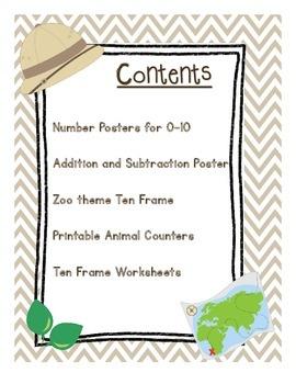 Zoo Animal Math Resources