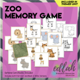 Zoo Animal Memory Game