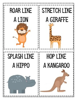 Animal Movement Worksheets Kindergarten