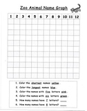 Zoo Animal Name Graphing Activity