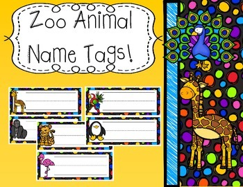 Zoo Animal Name Tags