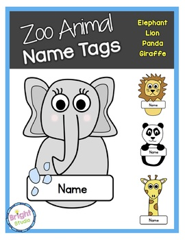 Zoo Animal Name Tags