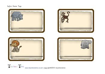Zoo Animal Name Writing