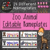 Nameplates EDITABLE - Zoo Animals Decor