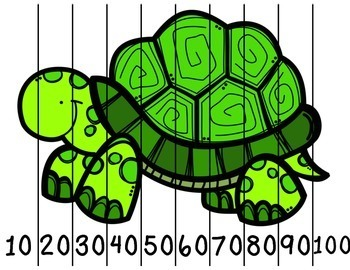 Zoo Animal Number Puzzles 0 to 100 and Skip Counting