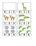 Zoo Animal Number Clip Cards