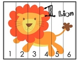 Zoo Animal Number Puzzles