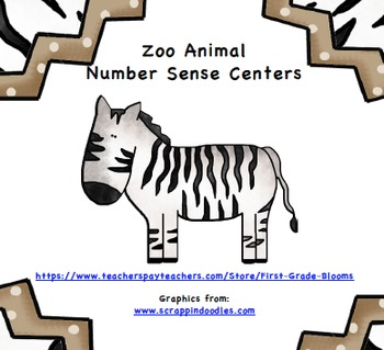 Zoo Animal Number Sense Centers