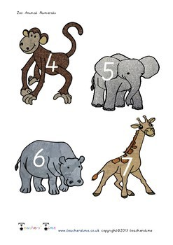 Zoo Animal Numbers 0-9