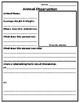 Animal Observation Worksheet, Zoo, Aquarium, Farm