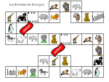 Zoo Animal Overhead Or Table Top Board Game By Amanda