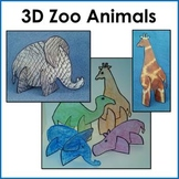 3D Zoo Animal Puzzle Craft