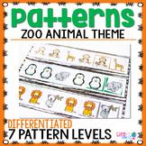 Zoo Animal Pattern Pack | Patterns | Math Centers