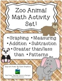 Zoo Animal Math Activity Set Graphs Patterns Dice Math