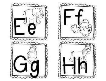 Zoo Animal Phonics Word Wall Labels, Flashcards, & Learning Book
