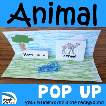 Zoo Animal Pop Up Emergent Reader