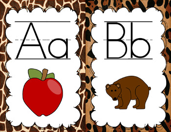 Zoo Animal Print Classroom Decor