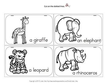 Zoo Animal Mini Book