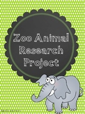 Zoo Animal Project packet