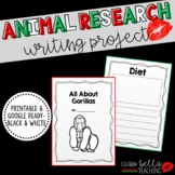 Zoo Animal Research Book (B&W) Bundle