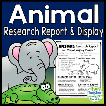 Animal Report: Animal Research Report & Display with Research Notes