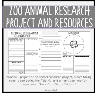 Zoo Animal Research Project and Resources {FREEBIE}